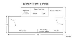 New laundry room design floor plan