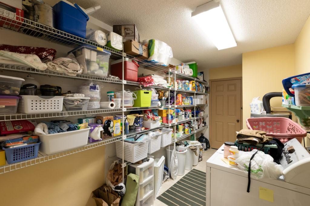 Laundry shelving before photo