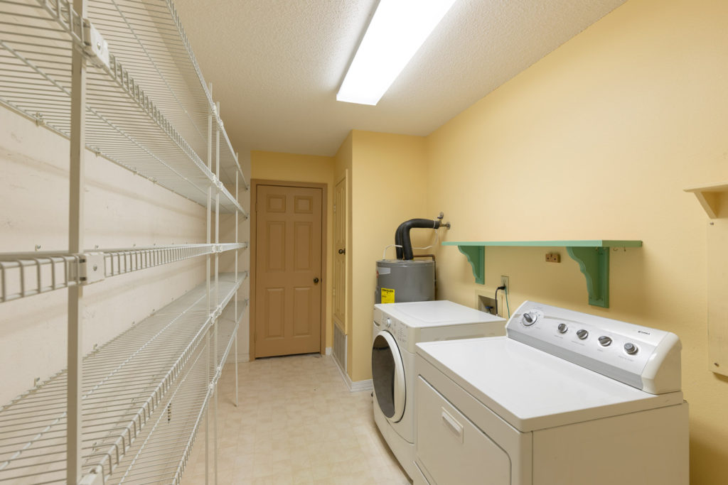 The laundry room cleared out