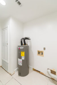 Hot water heater and laundry area