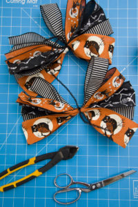 Halloween bow making