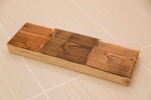Wood stain sample board