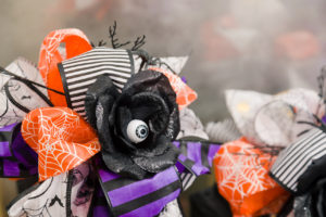 Spooky cute Halloween Dollar Tree Ribbon bows