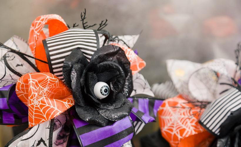 Cute spooky Halloween Dollar Tree Ribbon bows
