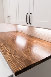 Laundry room cabinet top
