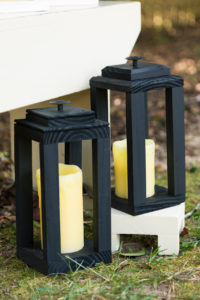 Sprayed painted lanterns