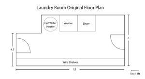 Laundry room floor plan before