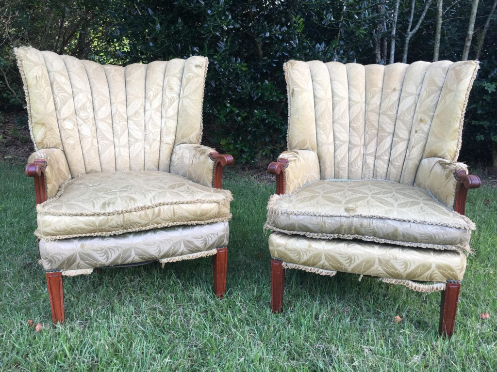Chairs before new upholstery