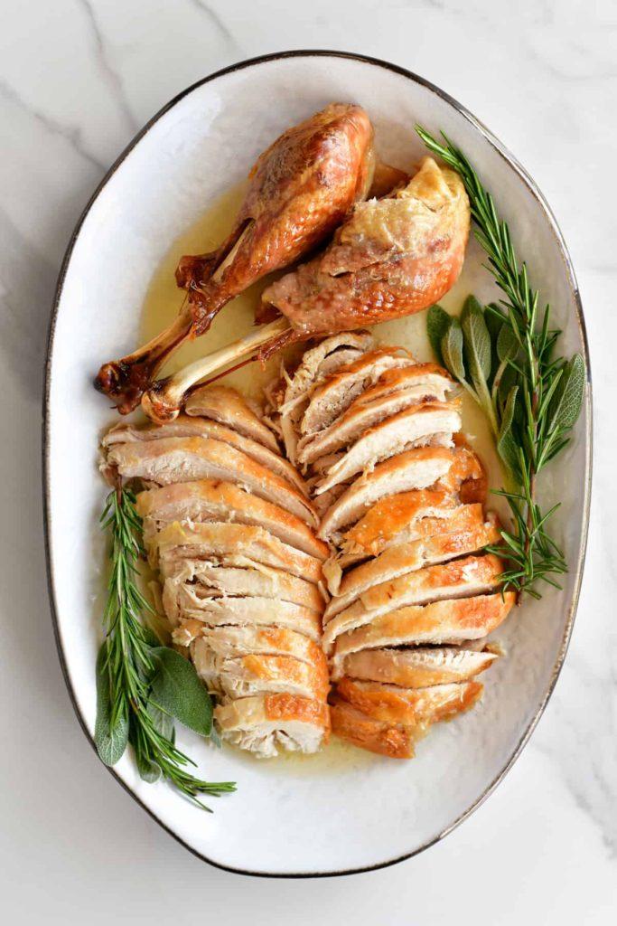 Turkey Sliced on Platter