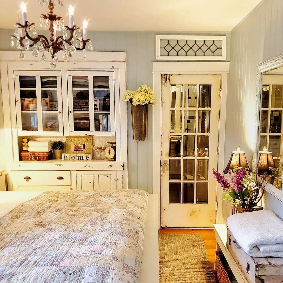 Antique cabinet bedroom storage