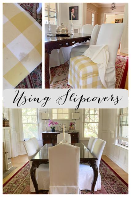 Slipcover chair update