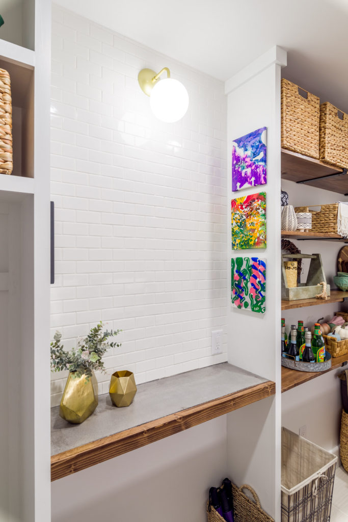 Laundry Room Makeover Reveal Charging Station Zone