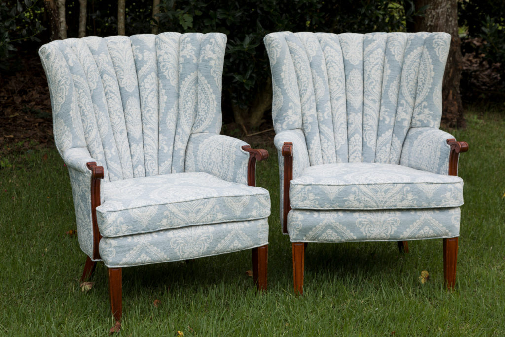 Furniture Upholstery DIY Completed (2 chairs)