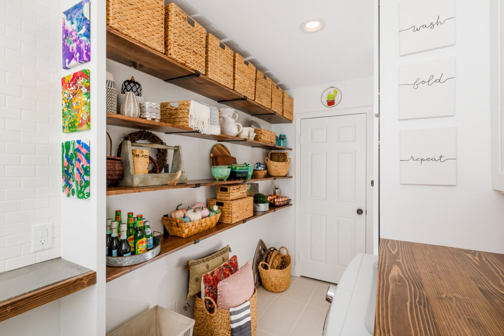 Laundry Room Makeover Real - Laundry Storage Area After