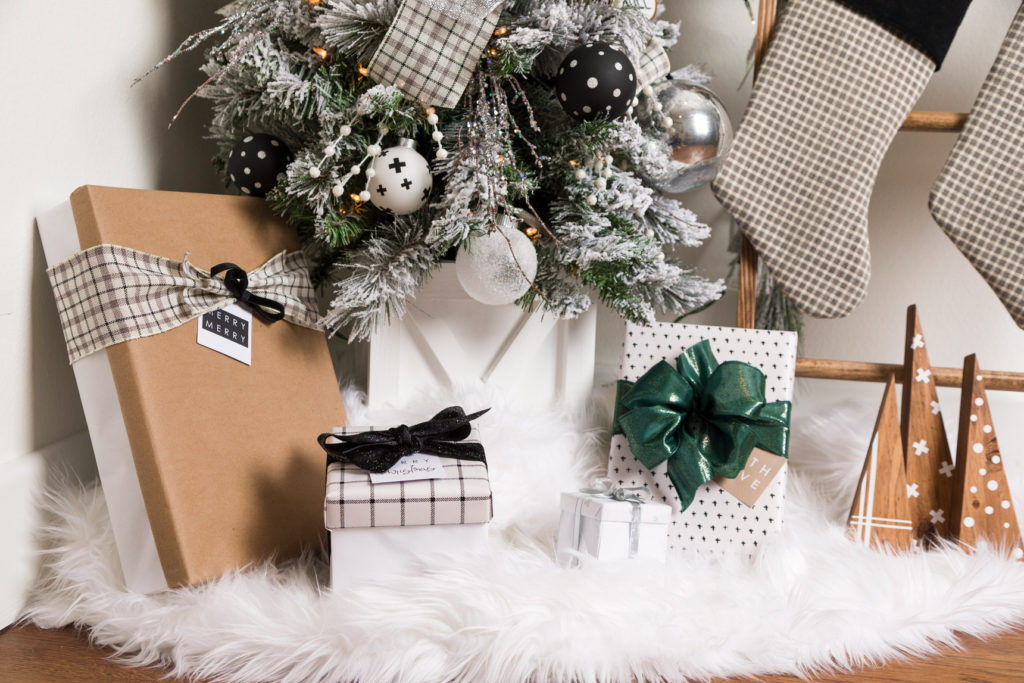 Modern Farmhouse Christmas Gift wrappings
