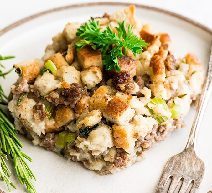 Thanksgiving side dishes Savory Sausage Stuffing