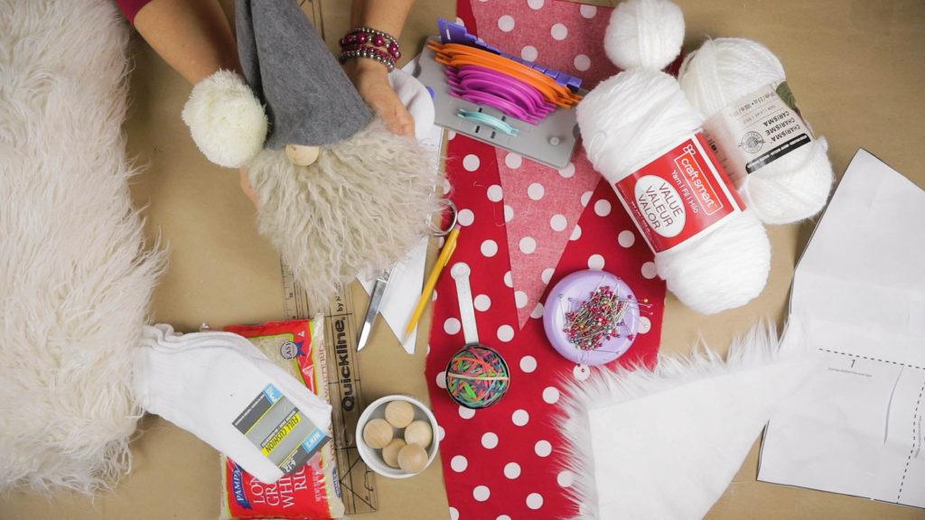 DIY Christmas Gnome Supplies