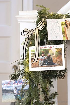 Elegant Christmas Card Display