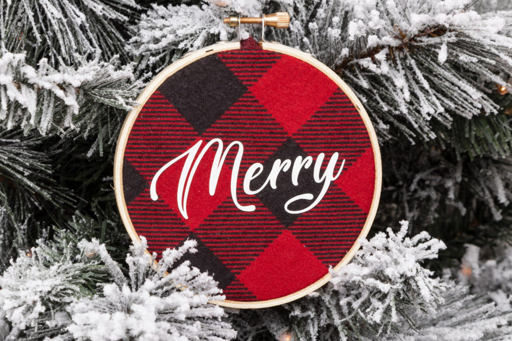 DIY Circut Ornament | Merry