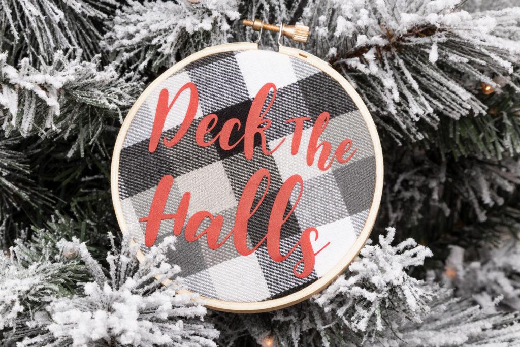 Deck the Halls Circut Maker Christmas ornaments