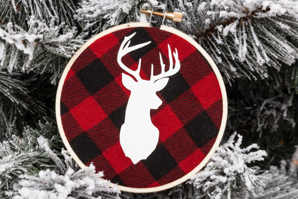 Reindeer Ornaments Circut and Buffalo Check