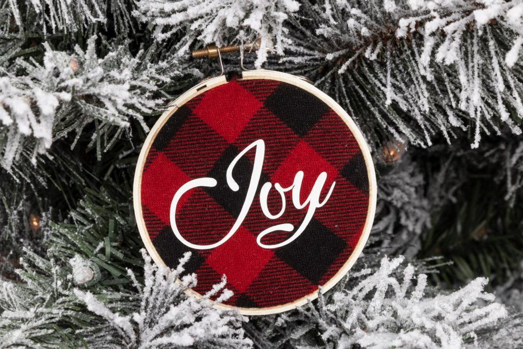 Joy Embroidery Hoop Ornament