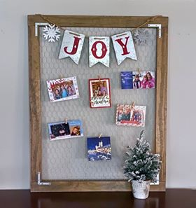 Rustic Christmas Card Holder