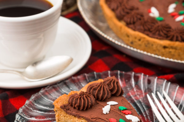 Coffee and chocolate chip cookie cake