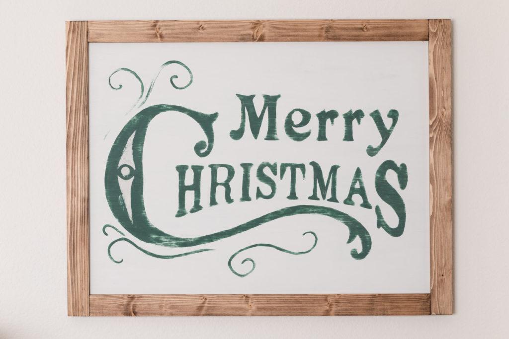 Rustic handmade Christmas sign