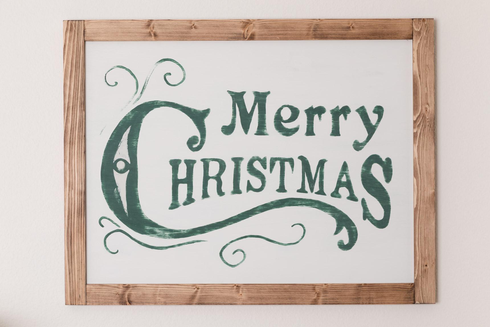 DIY Farmhouse Sign - Merry Christmas