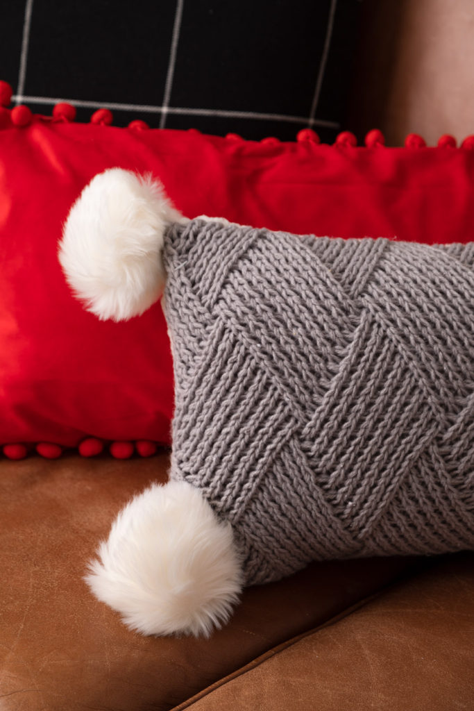 Fun pillows with pom pom accents