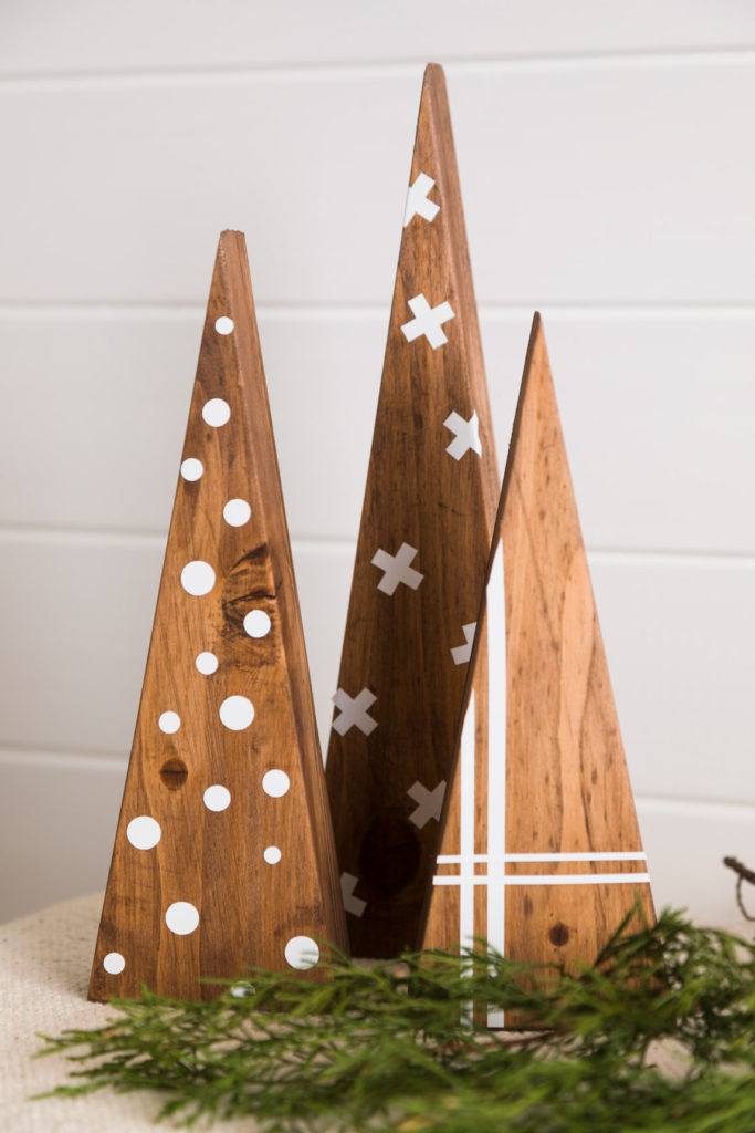 DIY wooden trees