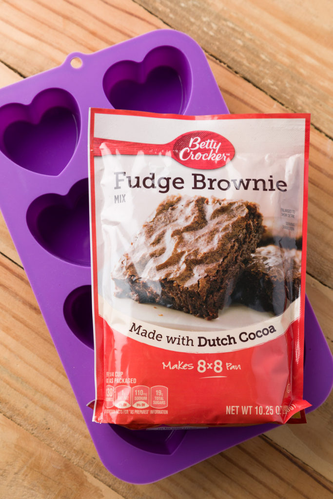 Browie mix and heart shaped pan