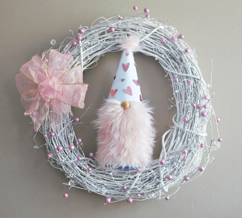 Valentine Gnome Wreath