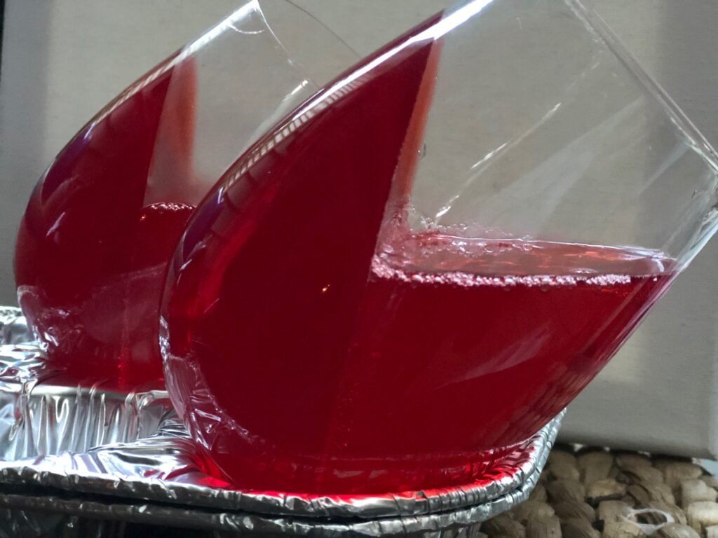 Heart Shaped Jello Dessert