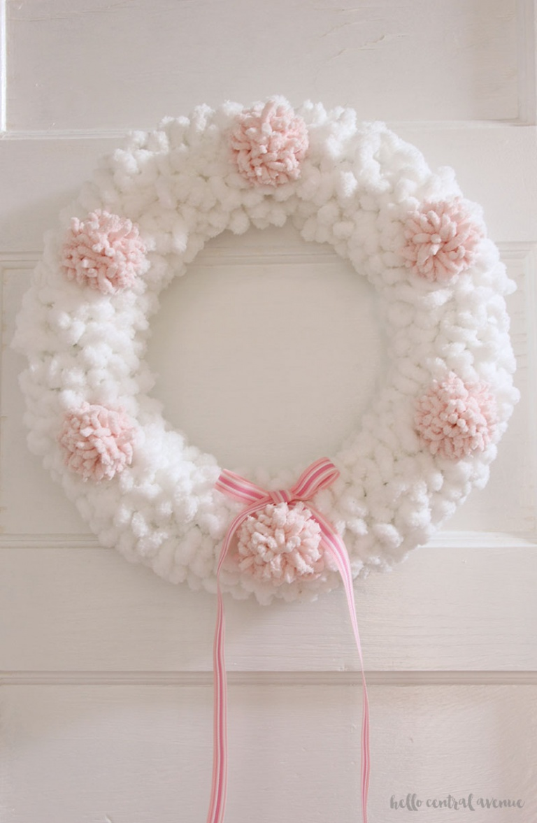 Yarn Pom Pom Wreath Kippi At Home