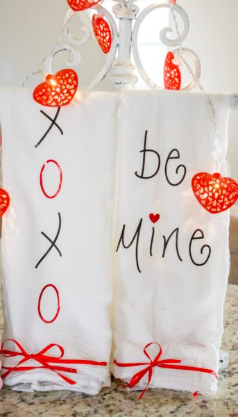Valentine Tea Towels DIY