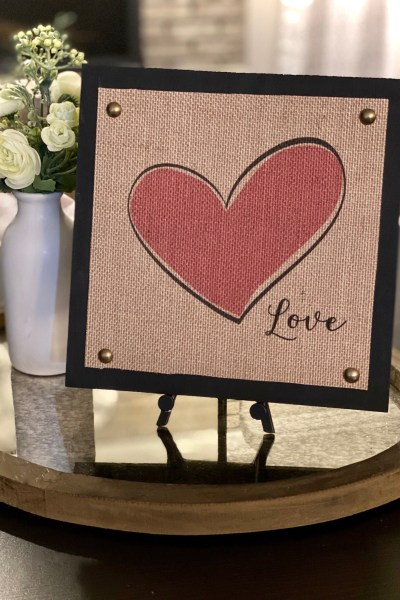 Valentine Burlap and Wood Signs