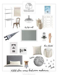 Star Wars Bedroom Makeover Mood Board