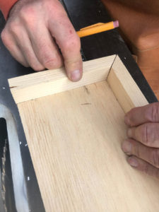 Checking miter ends for fit and length
