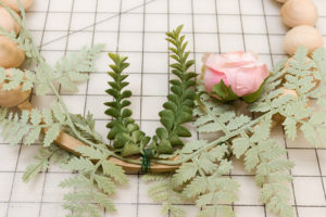 Attaching greenery with floral wire