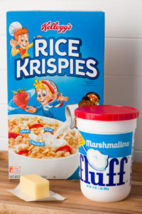 Rice Krisipies, cereal, butter and Fluff