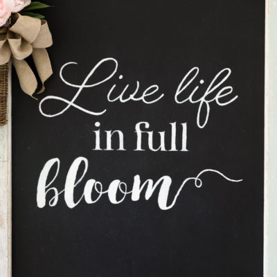 Farmhouse Spring Chalkboard Sign
