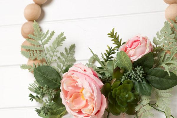 DIY Peony Wreath