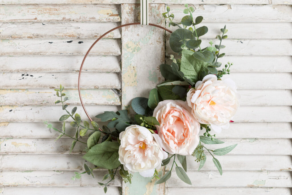 Spring hoop wreath