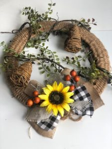 Learn to create a Woven rope wreath DIY by Agnes