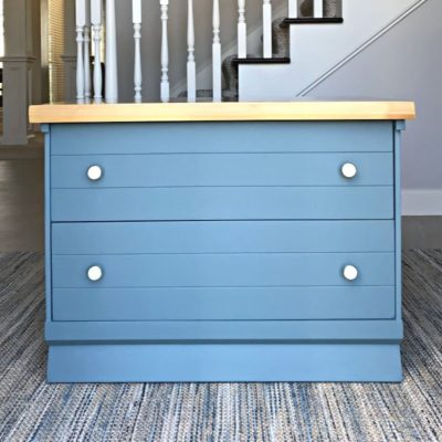 Nightstand painted with chalk paint