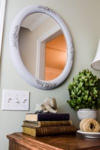 Mirror painted with chalk paint