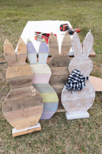 Easter craft wood bunnies