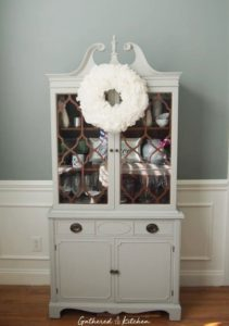 Chalk Painted Dining Room Hutch